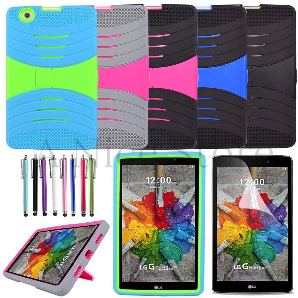 "LG G Pad 3 8.0""/LG G Pad X 8.0"" Tablet Hybrid Rugged Stand Cover Hard Case"