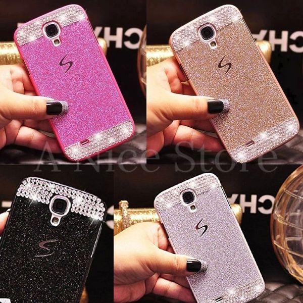 Samsung Galaxy S4 Luxury Bling Glitter Hard Plastic Back Case