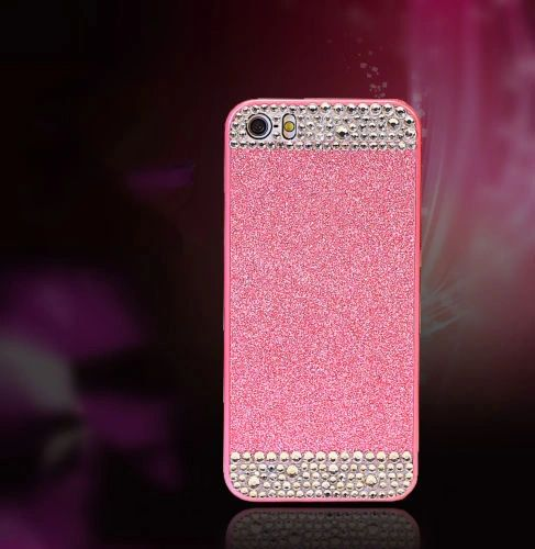 iPhone SE Glitter Bling Case,Luxury Slim 3D Bling Handmade Case for iPhone SE, Pink