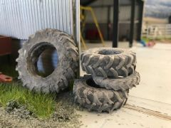 12 x Assorted Old Weathered Tractor Tyres 23350