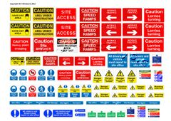 DEC16 Self-adhesive construction site sign decals 1:50 Scale by HLT