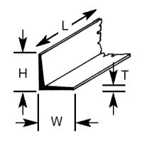 AFS-12 Plastruct - Angles 9.5mm