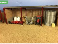 5m Single Roof, Block and Yorkshire Boarding Metal Shed Kit 1:32 Scale HMBM54812 by Minimaker
