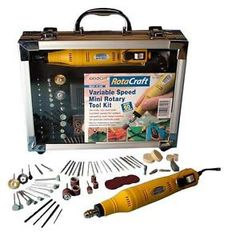 Rotacraft Variable Speed Mini Rotary Hobby Tool Kit Set Expo Tools 19500