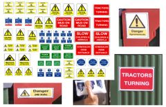 DEC01 Self-adhesive farm sign decals 1:32 Scale by HLT