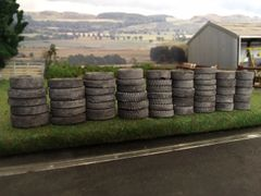 50 x Assorted Old Weathered Silage Clamp/Tyre Wall Tyres