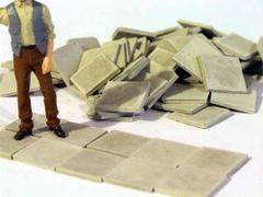 23099 Paving Slabs Dark Grey 1:32 Scale Stones by Juweela