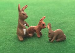 WMA18A 3 x Rabbits 1:32 Scale by HLT Miniatures