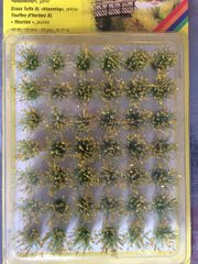 12mm Grass Tufts - 42 x Blooming Yellow Flowers N07026 Noch