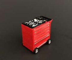 1 x Red Tool Box/Trolley Snap-on colours 1:32 Scale by At-Collection 32 32503