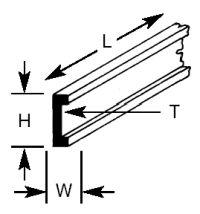 CFS-8 Plastruct - Shallow Channel 6.4mm