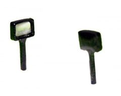 4x5mm Rectangular Work Lights (2) 1:32 Scale by Artisan 32 22439 (04304)