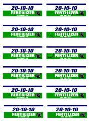 12 x Self-adhesive fertilizer sack decals 1:32 Scale by HLT DEC13