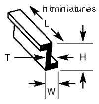 ZFS-2 Plastruct - Zee Bars 1.6 x 1.mm