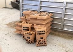 Potato Sacks and Stacks in 1:32 Scale by FAB Scenics (FAB10)