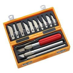 14pc Precision Craft/Modelling Knife Set Expo Tools 73510