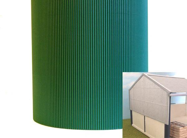 Fb036c Green Corrugated Card 1 32 Scale Hlt Miniatures