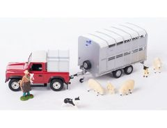 Sheep, Land Rover and Ifor Williams Trailer Set 1:32 Scale by Britains 43138A1