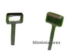 3.2x5.1mm Rectangular Work Lights (2) 1:32 Scale by Artisan 32 22438 (04305)