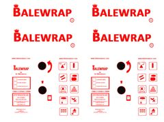 DEC10 2 pcs Boxes of Bale Wrap Spare Decals Only 1:32 Scale by HLT