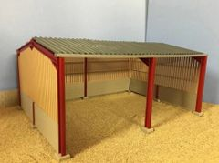 SALE! 5m High Apex Roof, Block and Yorkshire Board Metal Shed 1:32 Scale HMB50912 by Minimaker