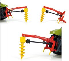 Rabaud Tractor Mounted Post Auger1:32 Scale by Universal Hobbies UH4093