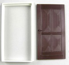 Exterior Door with Casing 1:32/1:35 Scale FB500