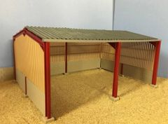 6m High Apex Roof, Block and Yorkshire Board Metal Shed 1:32 Scale HMB60912 by Minimaker