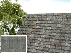 FBR04 5x Sheets of Old Slate Tiles 1:32 Scale by HLT Miniatures