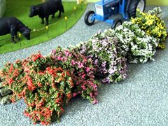 S08 Flowering/Flowers Bushes by JG Miniatures