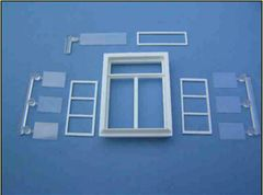 2 x Large Casement Windows 1:32/1:35 Scale FB400