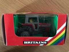 Massey Ferguson 595 Duel Wheeled Tractor Boxed Vintage Britains 9529