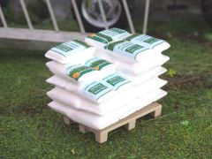 Sacks of Grass Seed 1:32 Scale by HLT Miniatures