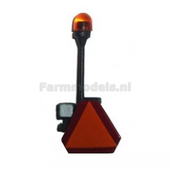 Orange Tractor/Trailer Lights Beacon With Work Lamp And