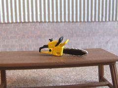 WM041Y Petrol Chainsaw (Yellow) 1:32 scale by HLT Miniatures