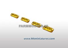 1x3mm Glimmer Yellow Rectangular Transparent Lights (4) 1:32 Scale 22164/04-370J