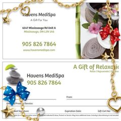 Havens MediSpa e-Gift Certificate, eGift Card & Customized Package Payment