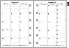FPK Monthly Planner, 2 Pages per Month, 6 Columns, with Lines