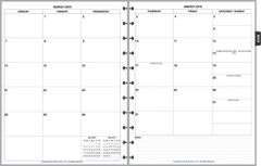 LVL Monthly Planner, 2 Pages per Month, 6-Columns, No Lines