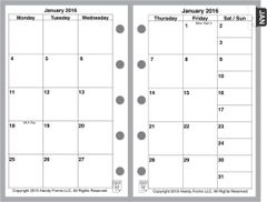 FMI Monthly Planner, 2 Pages per Month, 6-Columns, No Lines