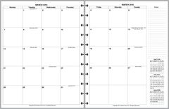 LVL Monthly Planner, 4 Pages per Month, No Lines