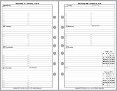 FCS Weekly Planner, 2 Pages per Week, 2 Pages per Month, with Lines, with Appt Times
