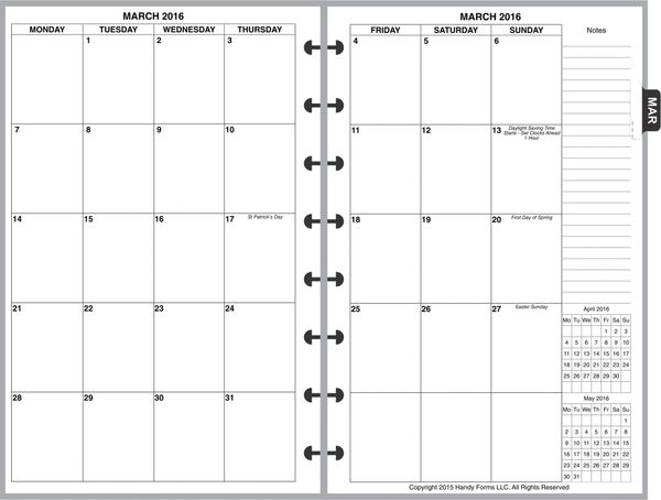 LVJ Monthly Planner, 2 Pages per Month, 8-Columns, No Lines