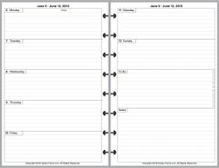 LVJ Weekly Planner, 2 Pages per Week, 2 Pages per Month, Plus Organizer Page (Style D)