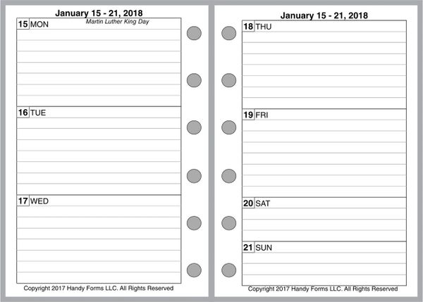 FPK Weekly Planner, 2 Pages per Week, 2 Pages per Month, With Lines (Style B)