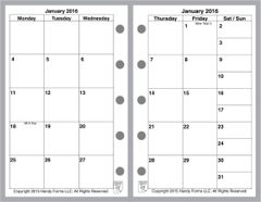 FMI Monthly Planner, 4 Pages per Month, No Lines