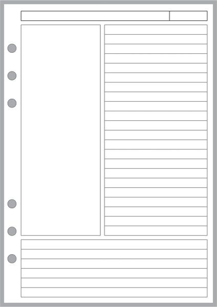 FCC Note Pages Designed for the Cornell Notetaking System