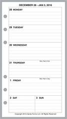 FPL Weekly Planner, 1 Page per Week, 2 Pages per Month, with Lines (Style B)