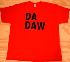 Red T-Shirt w/ black lettering (DA DAW)