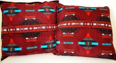 Maroon Southwest Design Double Sided Pillow Set